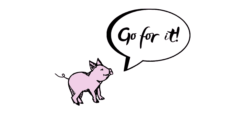 The Language Pig says: Go for it!
