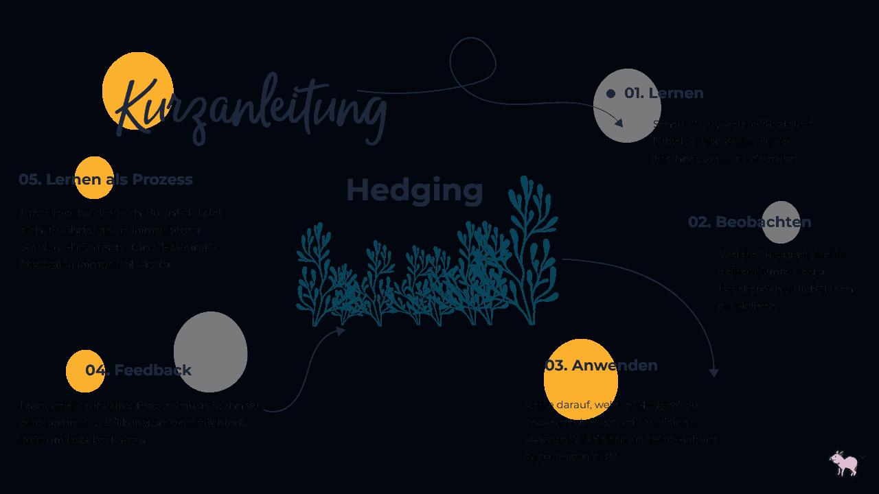 Kurzanleitung Hedging