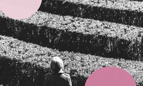 woman with hedge